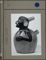 Vase représentant un singe, en terre