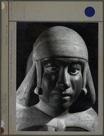 Vase anthropomorphe, tête d'homme, face