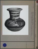 Petite jarre en céramique polychrome