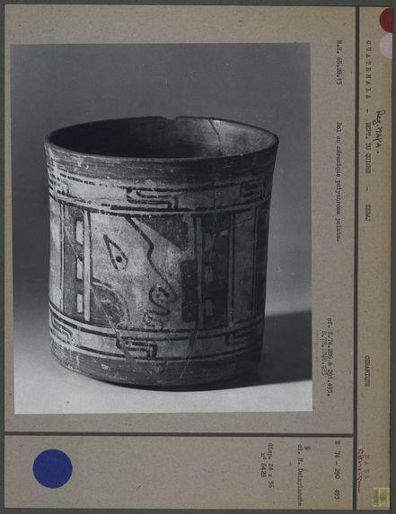 Bol maya en céramique polychrome