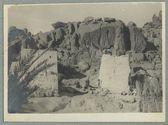 Les rochers à l'entrée du village d'Azellouaz