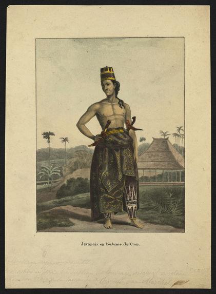 Javanais en costume de cour