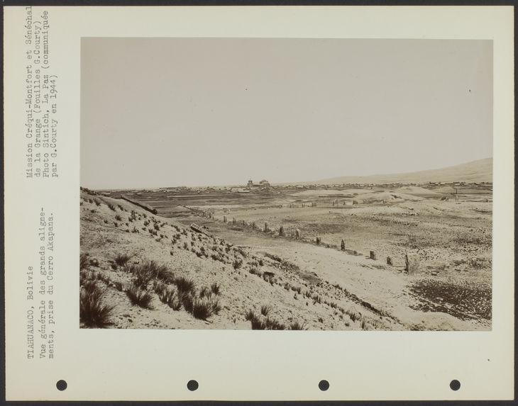 Vue générale des grands alignements, prise du Cerro Akapana