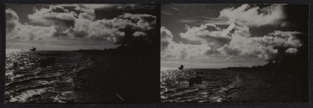 Sans titre [Deux vues représentant un paysage marin]