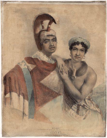 Boki, gouverneur de Wáhu, îles Sandwich, et sa femme Liliha