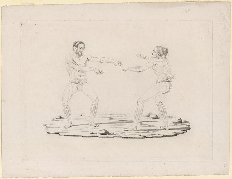 Deux Carolins dansant