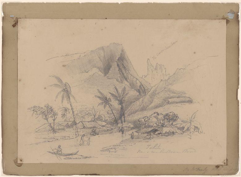 The Crown Mountain, Tahiti view near the Broom Road