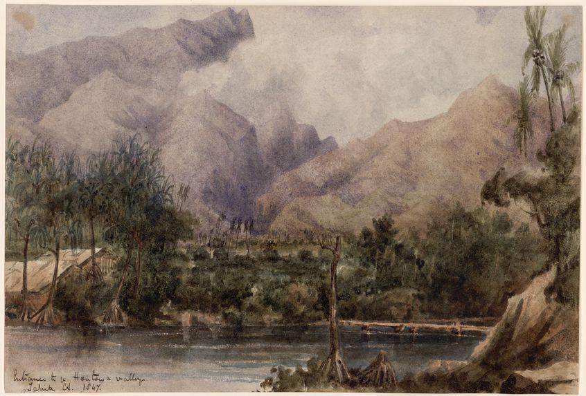 Entrée de la vallée de la Fautaua,Tahiti