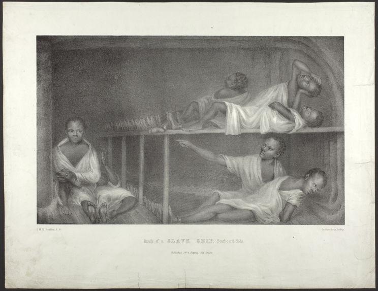 Inside of a slave ship