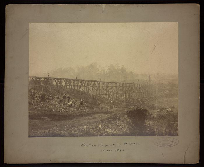Pont en charpente de Quillen