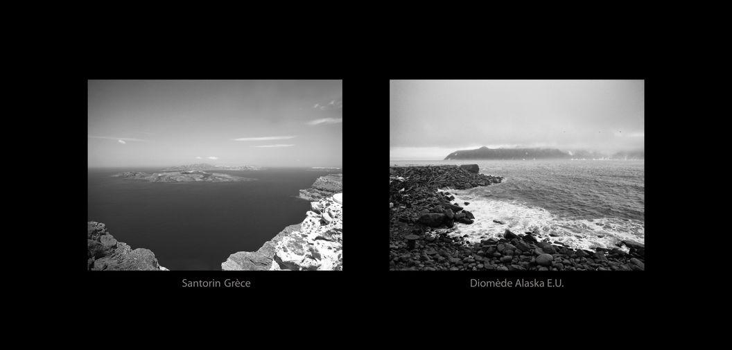 Santorin Grèce - Diomède Alaska E.U.