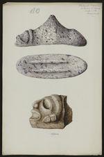 Antiquités Caraïbes. Collection L. Guesde. Pointe à Pitre. Guadeloupe [trois...