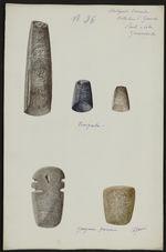 Antiquités Caraïbes. Collection L. Guesde. Pointe à Pitre. Guadeloupe....