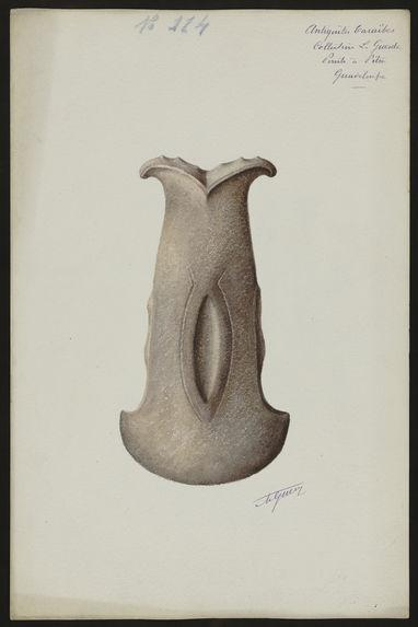 Antiquités Caraïbes. Collection L. Guesde. Pointe à Pitre. Guadeloupe [deux haches]