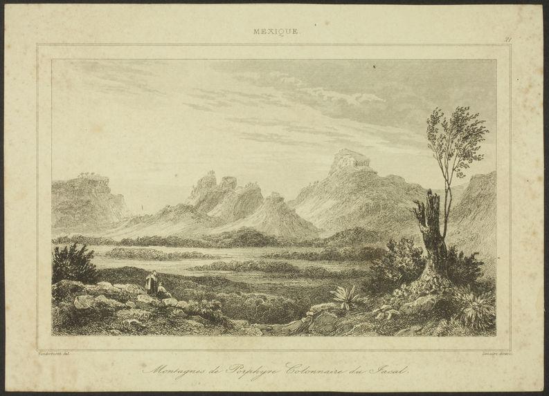 Mexique. Montagne de Porphyre. Colonnaire du Facal
