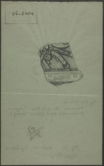 Fig. 23. Honduras. Iles de la Baie. Fragment de céramique peint