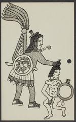 Sans titre [dessin représentant deux guerriers]
