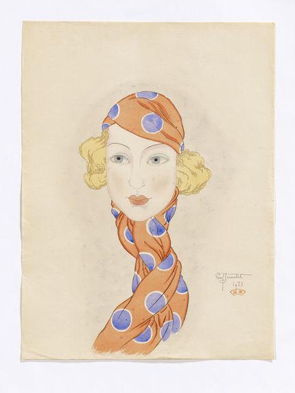 Mrs. C.B. Le foulard orange