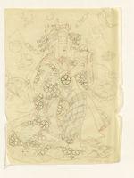 Daikoku, Dieu de la Richesse personnifié par une courtisane du Shimabara