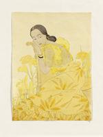 Portrait of a Chamorro Woman. Yellow. Portrait de Melle Joanita Utalann