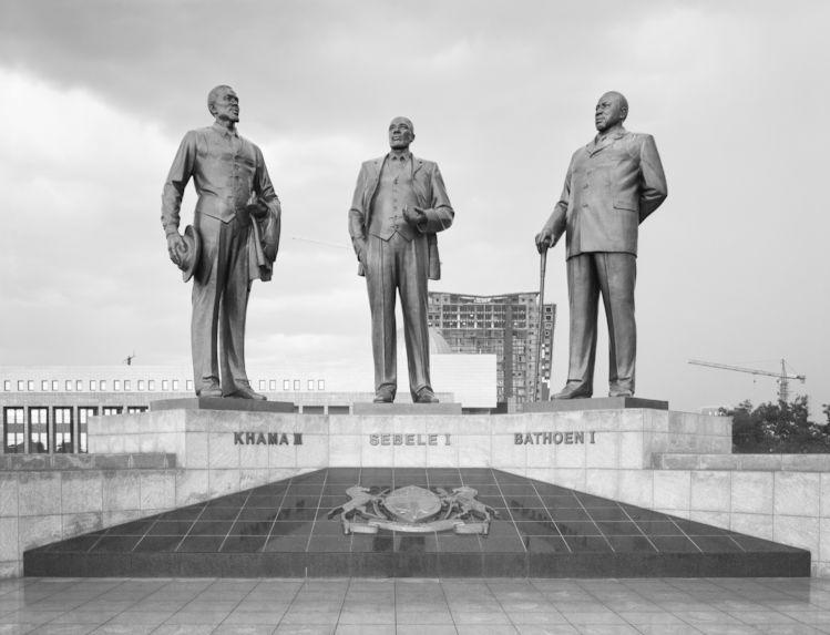 Botswana, The Three Dikgosi Monument (built by North Korea), Botswana, Gaborone 2013