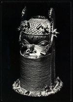 Tête de bronze d'un roi ayant été déposée sur l'autel familial de l'Oba du Bénin