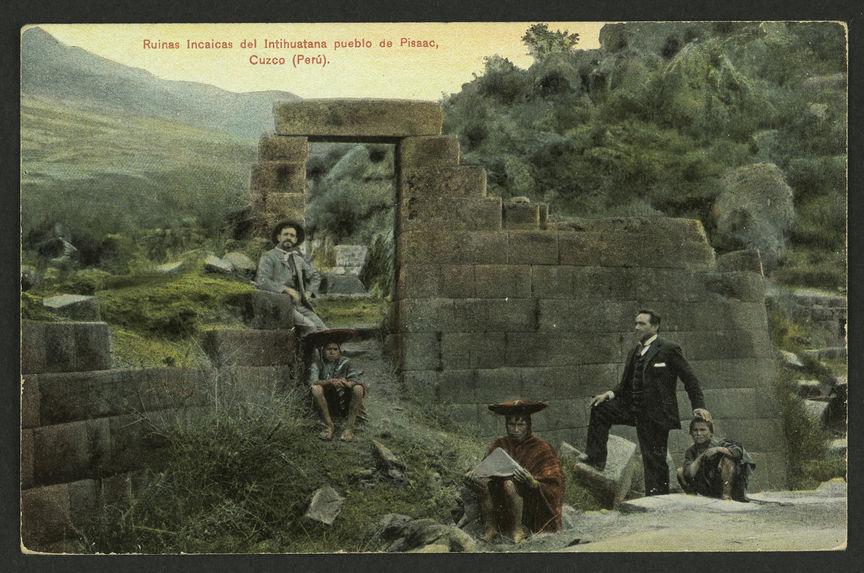 Ruinas Incais del Intihuatana pueblol de Pissac, Cuzco (Perù)