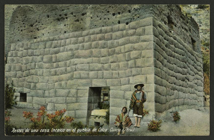 Restos de una Incaica en el pueblo de Calca Cuzco (Perù)