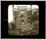 Lahore. Porte de la mosquée de Padishah